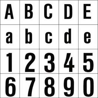 RZB Beschriftung 9 schwarz 99221.003.9