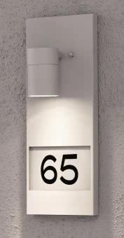 Gnosjo Hausnummernleu. Alu silber 7655-300