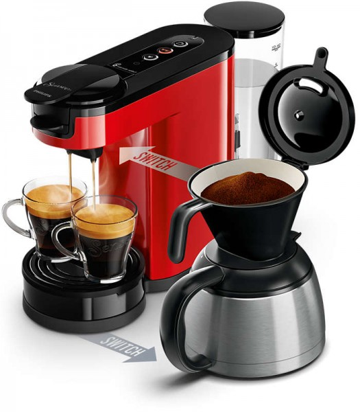 Philips HD 6592/80 rot Kaffeeautomat